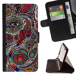 Boteh Modelo Modelo India floral- Modelo colorido cuero de la carpeta del tirón del caso cubierta piel Holster Funda protecció Para Apple iPhone 5C