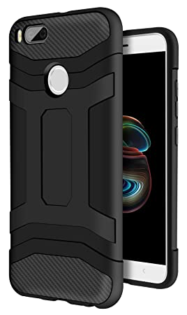 Xiaomi Mi A1 Funda Negro, ivencase Carcasa Slim Soft TPU Silicone Antigolpes Back Bumper Protective Case Cover para Xiaomi Mi 5X / Xiaomi Mi A1 5,5