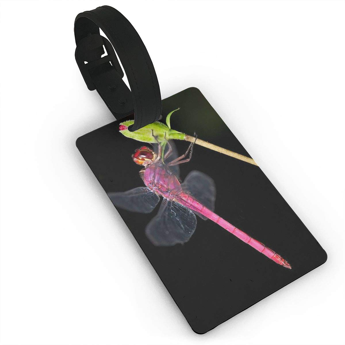 2 Pack Luggage Tags Dragonfly Pattern Handbag Tag For Travel Tags Accessories