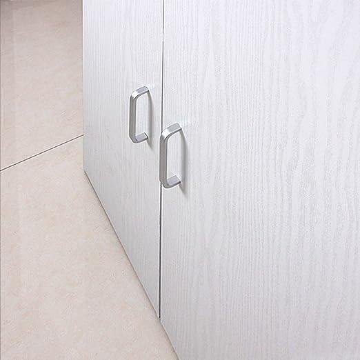 Glow4u Estantería de vinilo autoadhesiva con textura de madera blanca para armarios de cocina, mesa, encimera de 40 x 500 cm: Amazon.es: Hogar