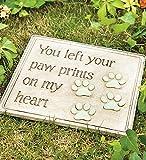 Paw Prints Garden Stone