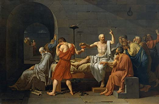 Jacques Louis David The Death of Socrates Giclee Canvas Print  Poster