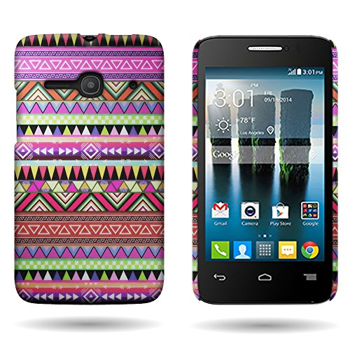 Alcatel One Touch Evolve 2 Hard Designer Phone Case | CoverON® Graphic Image Shell Protector with (Aztec Tribal) Pattern Design for Alcatel One Touch Evolve 2 4037T