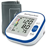 Blood Pressure Monitor for Upper Arm, Automatic Portable LCD Screen Irregular Heartbeat...
