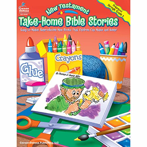 Carson Dellosa Publications CD-0499 New Testament Take-Home Bible Stories Book, 8.5