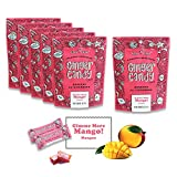 Gem Gem All Natural Chewy Gimme More Mango Ginger Candy 5 oz (Pack of 12)