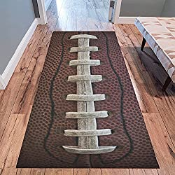 "InterestPrint Vintage American Football Lace Modern Area Rug Carpet 10' x 3'3"", Retro Grunge Decorative Floor Mat Rugs for Office Living Room Bedroom"