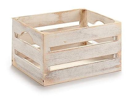 ARTE REGAL Caja Madera Blanco 21x15x11cm