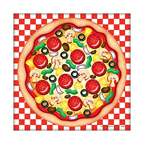 Fun Express - Make A Pizza Sticker Scene for Party - Stationery - Stickers - Make - A - Scene (Sm) - Party - 12 Pieces