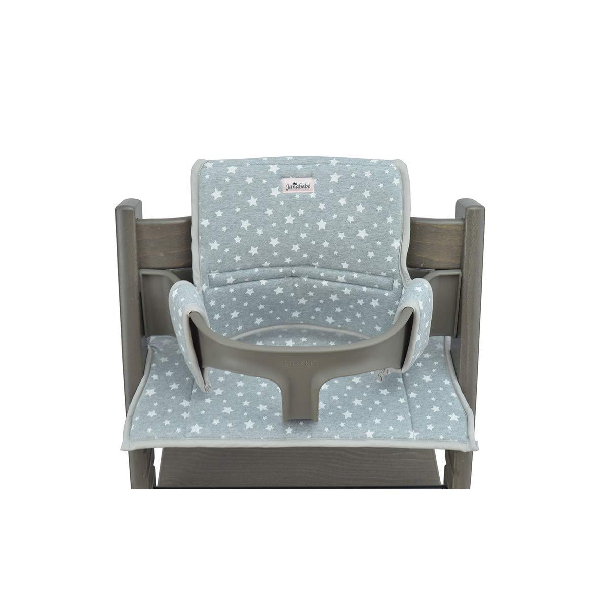 Janabebé Cushion for high Chair Stokke Tripp Trapp (White Star)