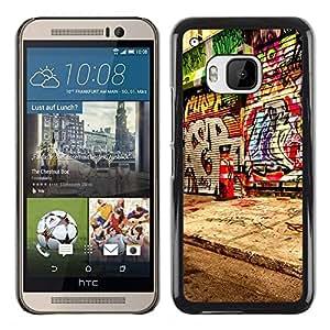 Be Good Phone Accessory // Dura Cáscara cubierta Protectora Caso Carcasa Funda de Protección para HTC One M9 // Graffiti Street Art Spray Paint Artist City
