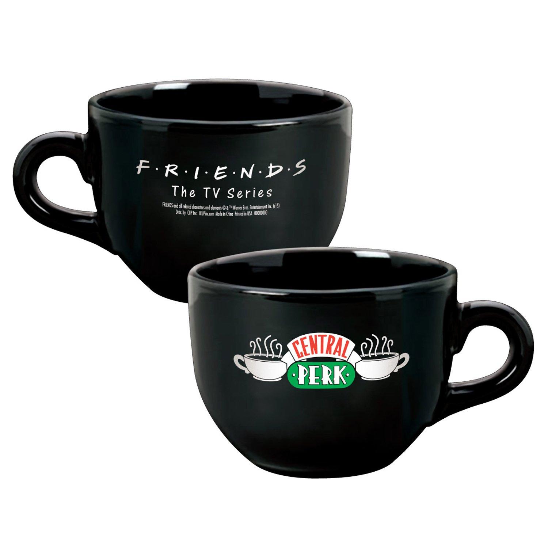 Friends Central Perk Ceramic Latte Coffee Mug, Black 24 oz NBC ICUP-06878