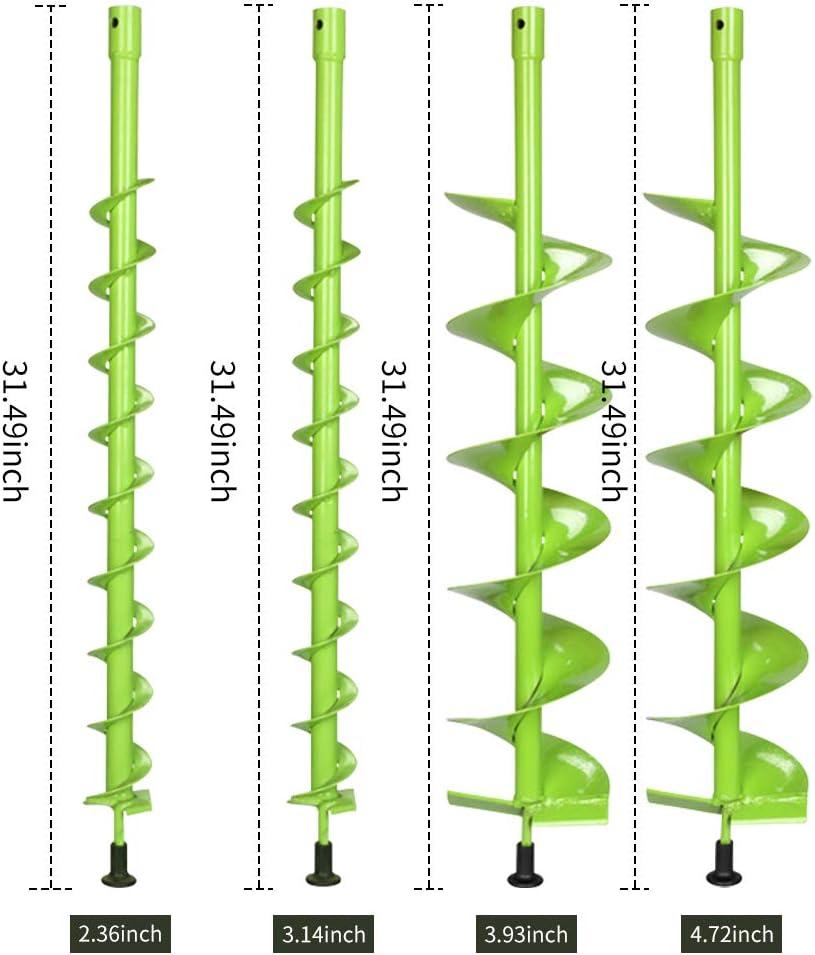 Coclea Punta da Trapano Pianta da Giardino Bulbo da Fiore Coclea Piantatrice Rapida per piantare bulbi Piantine Trapano Terra Recinzione Foro Scavatore Walmeck