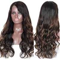 TopFeeling Brazilian Virgin Hair Glueless Lace Front Human Hair Wigs For Black Women Ombre Highlight Lace Front Wigs Body Wave