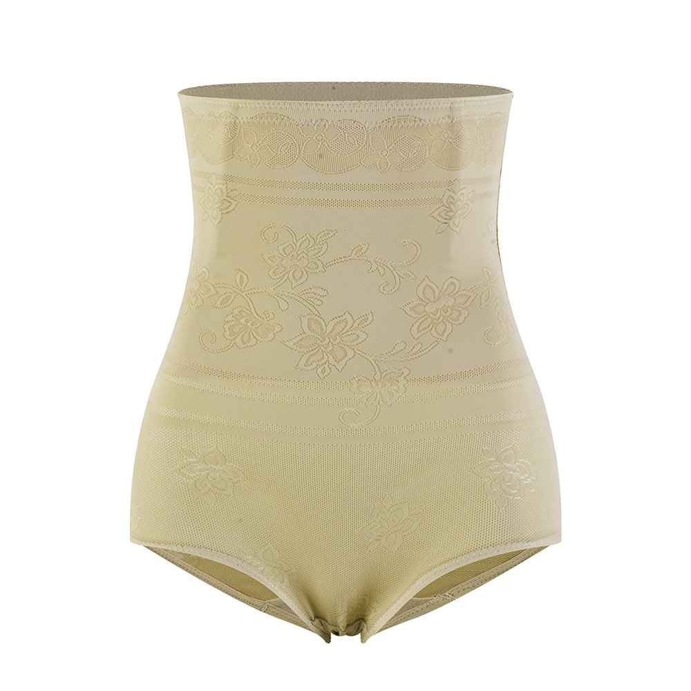 Amazingjoys Women's Hi-Waist Body Shaper Seamless Tummy Control Panty Shapewear