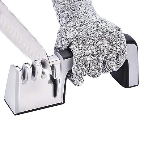 Sacapuntas de cuchillo Cuchillos de Cocina Tijeras HOJA AFILADA HERRAMIENTA /& Stone Profesional