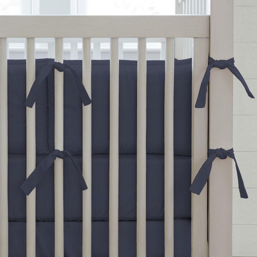 Carousel Designs Solid Navy Crib Bumper