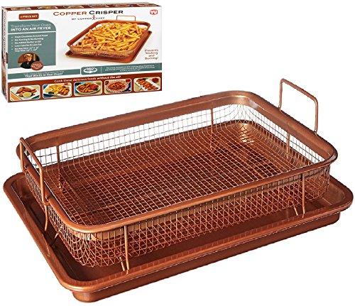 Copper Chef Crisper Tray Non Stick Cookie Sheet Tray And