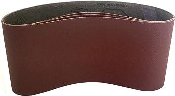 6 Pack, 120 Grit Sanding Belts 4 X 21-3//4 Cloth Aluminum Oxide Sander Belts