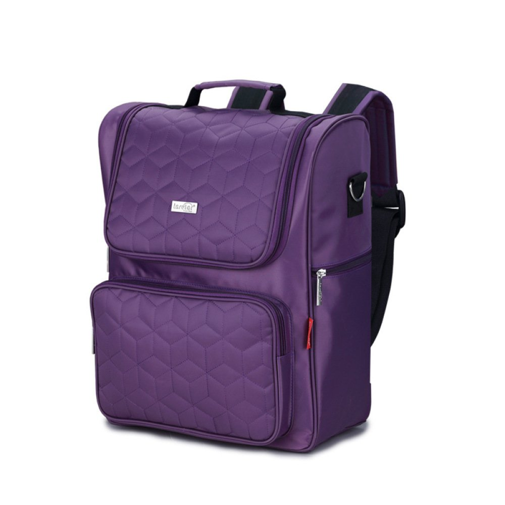 Fashion Shoulder Mummy Bag Multi-function Mother Bag Mother And Baby Bag Nylon Backpack,Purple-1