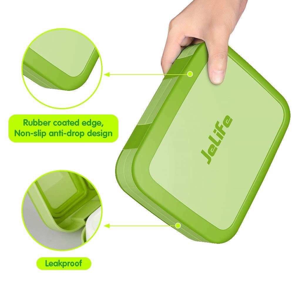 Jelife Upgrade Version Bento Box Kids Brotdose Kinder Auslaufsicher Kinder Lunchbox mit 5 Unterteilungen