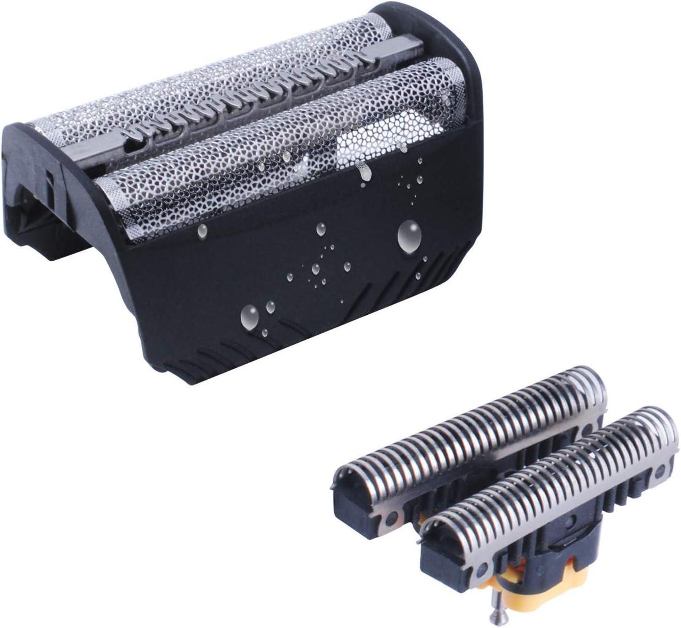 30B Cabezales de Afeitado para Braun Afeitadora Eléctrica Hombre, Lámina y Cuchillas de Repuesto Poweka para Braun Serie 3 SmartControl TriControl y Syncro Pro
