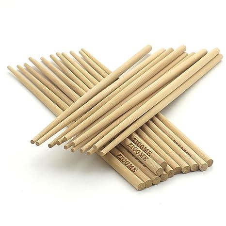Amazon.com: zicome 12 Par chino bambú natural Palillos para ...
