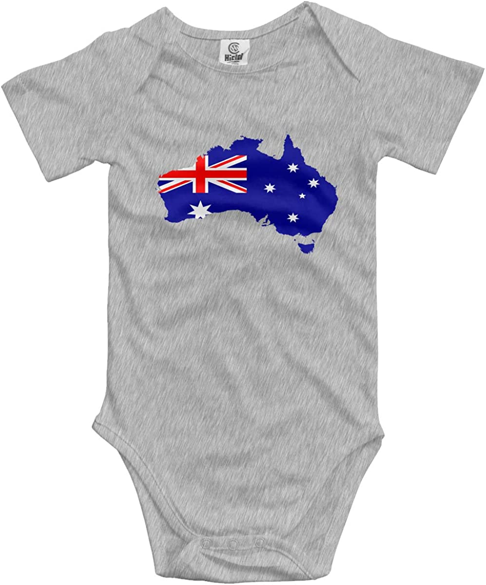 CUTEDWARF Baby Short-Sleeve Onesies Flag of Australia Bodysuit Baby Outfits