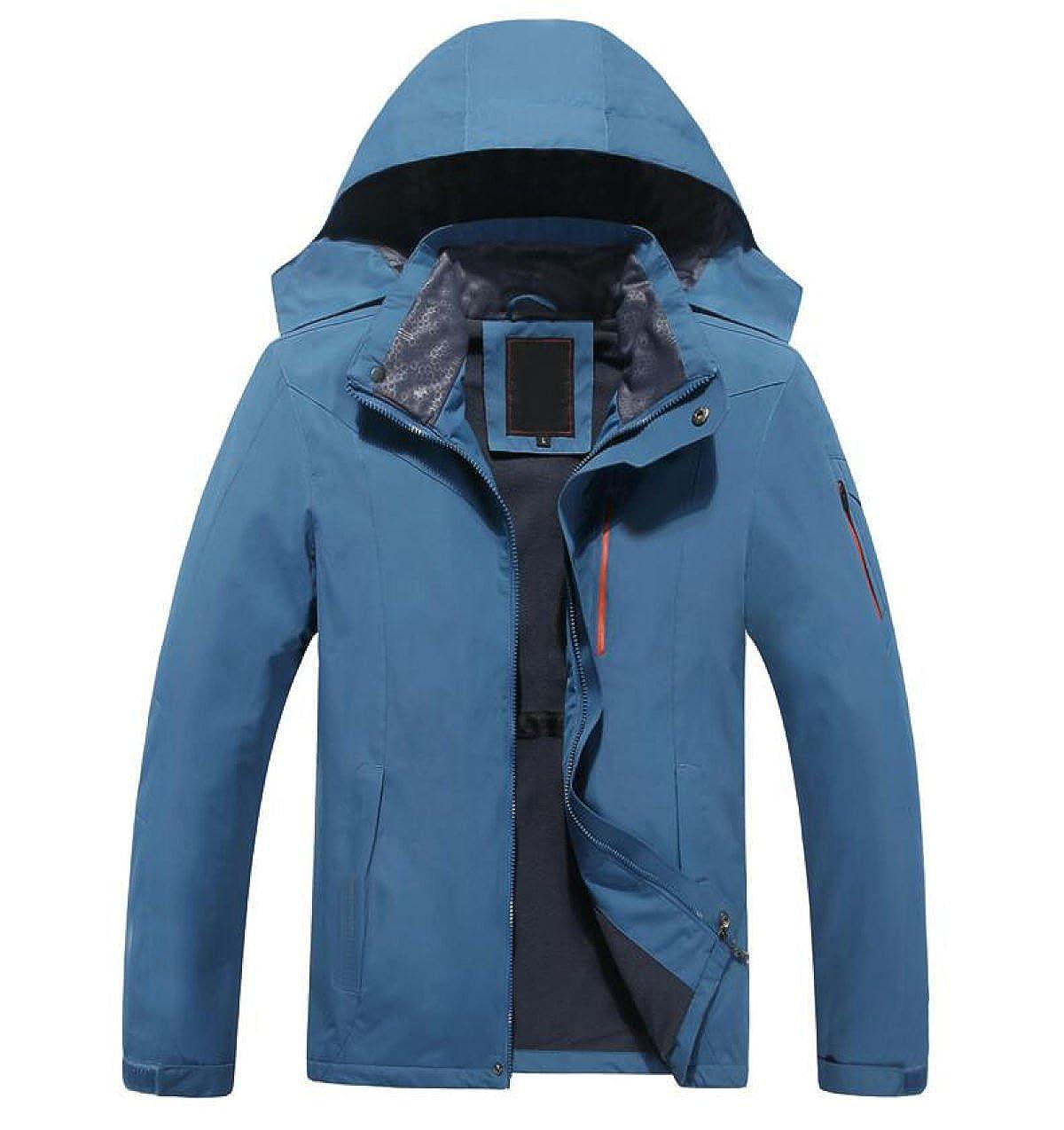 bleu XL VêteHommest Extérieur pour Hommes en Plein Air VêteHommests pour L'alpinisme Un Seul Ensemble Imperméable à l'eau Veste à Vent