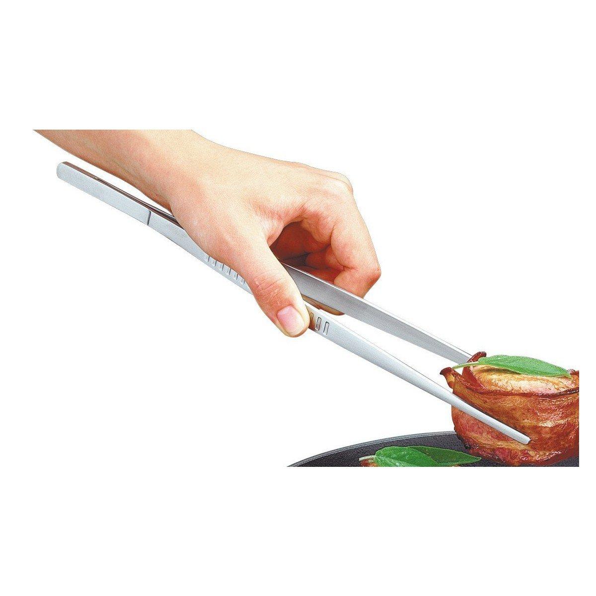 Kochpinzette Edelstahl lang 30cm ein n/ützlicher K/üchenhelfer f/ür alle Hobbyk/öche und Kochprofis Edelstahl Pinzette K/üche verwendbar als Fleischzange Bratzange Grillzange oder Servier Zange