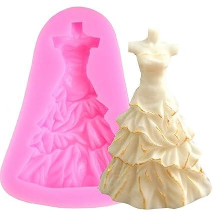 Molde silicona vestido novia decoración vestido torta pasta Azúcar Cake Design