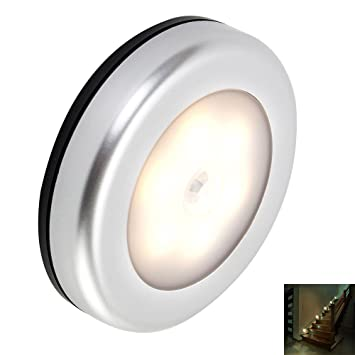 Happyyous 6 Led Motion Sensor Light,Cordless Battery Powered Night Light Motion Sensing with Stick