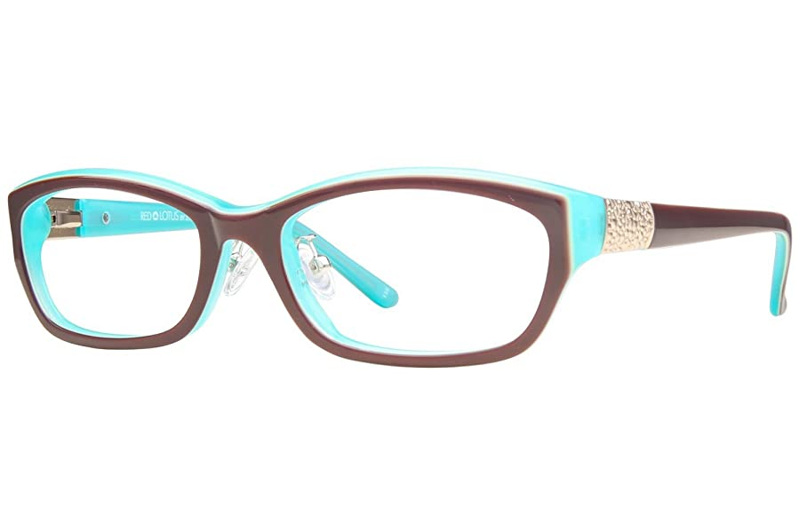 Amazon.com: Red Lotus 219Z Womens Eyeglass Frames - Brown Turquoise ...
