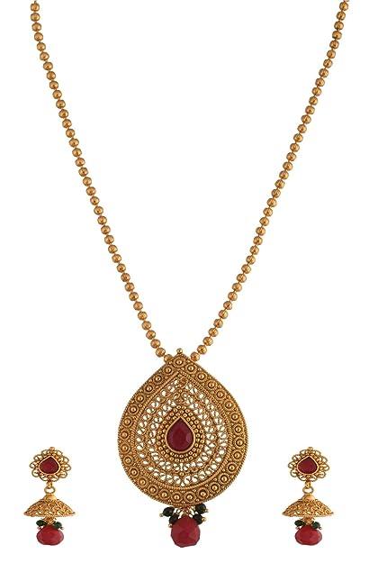 Buy ganapathy gems 1 gram gold plated pendant set with chain 8440 ganapathy gems 1 gram gold plated pendant set with chain 8440 8440 aloadofball Images