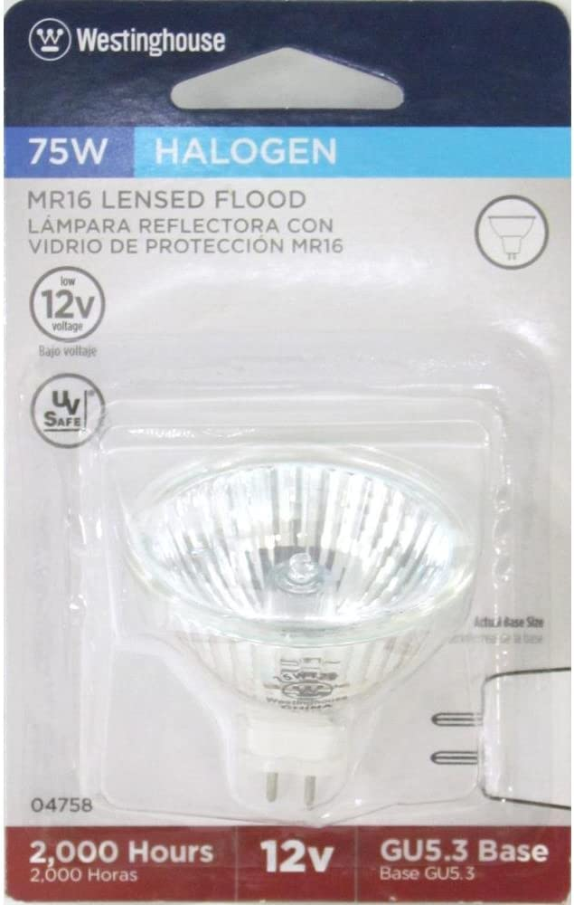 Westinghouse Lighting  04758 Corp 75-watt MR16 Halogen Flood Bulb WESTINGHOUSE LIGHTING CORP