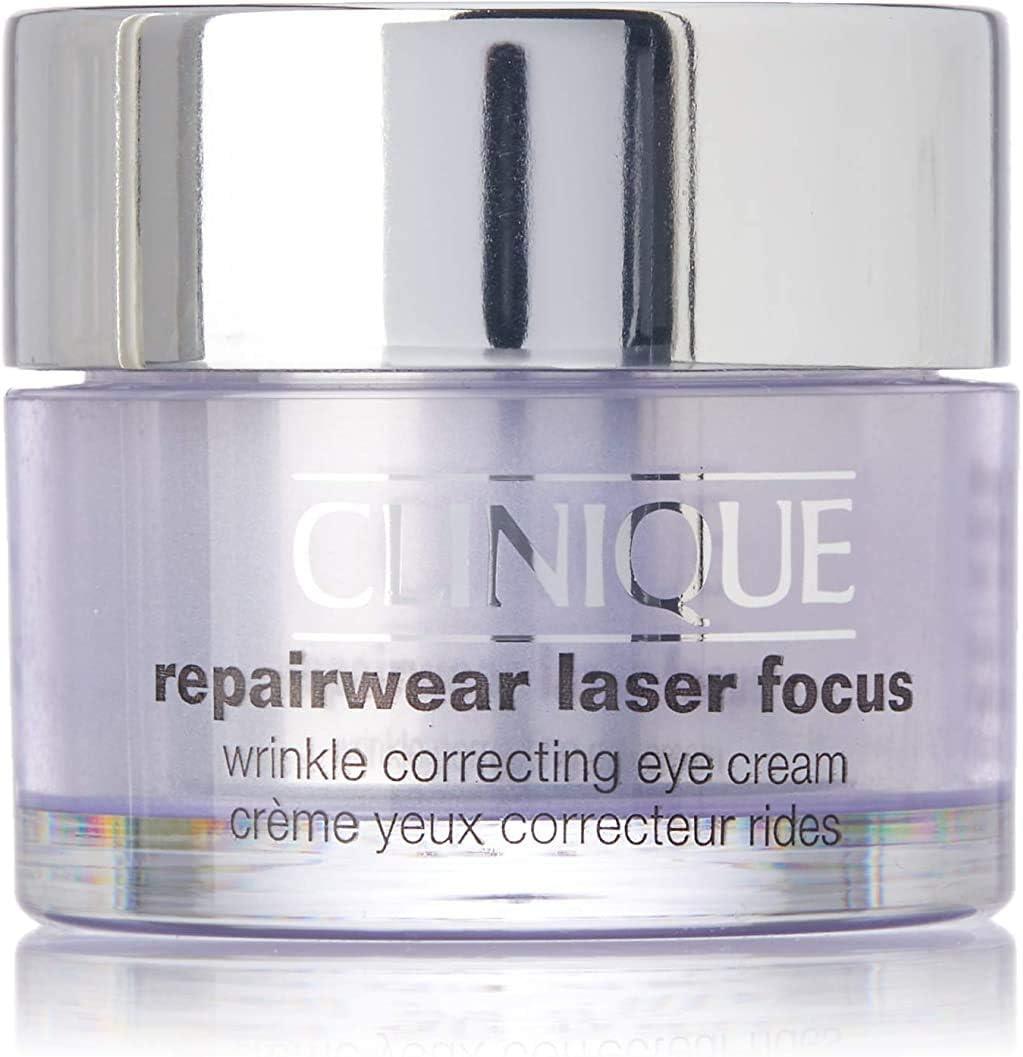 Clinique Repair Wear Laser Focus - Crema reparadora antiarrugas, contorno de ojos,15 ml