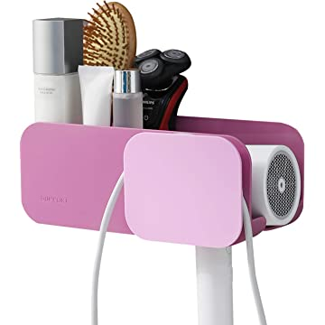 Taozun Hair Dryer Holder Self Adhesive Blow Dryer Holder Bathroom Bathroom Styling Tool Organizer Storage for Blow Dryer Curling Wand Straightener Brushes