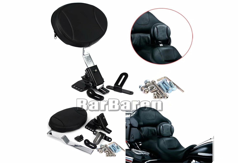 For Harley Touring Electra RoadStreet Glide 97-16 Adjustable Rider Seat Backrest Zhongkaobei-huaxiang