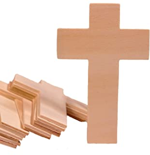 Amazon Com Package Of 30 Unfinished Wood Crosses For Vbs