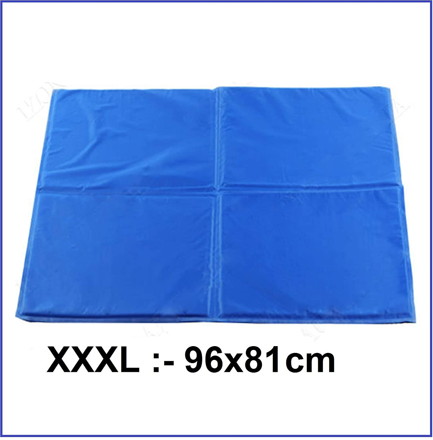 (XXXL) [9681] Large Dog Cooling Mat (bluee)   Keeps Your Larger Pets Cool & Calm During Summer   Non Toxic Cooling Pads for Dogs and Cats ((XXXL) [96  81])