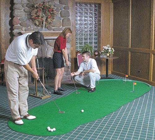 Big Moss Golf THE ADMIRAL 6' X 15' Practice Putting Chipping Green w/ 3 Cups