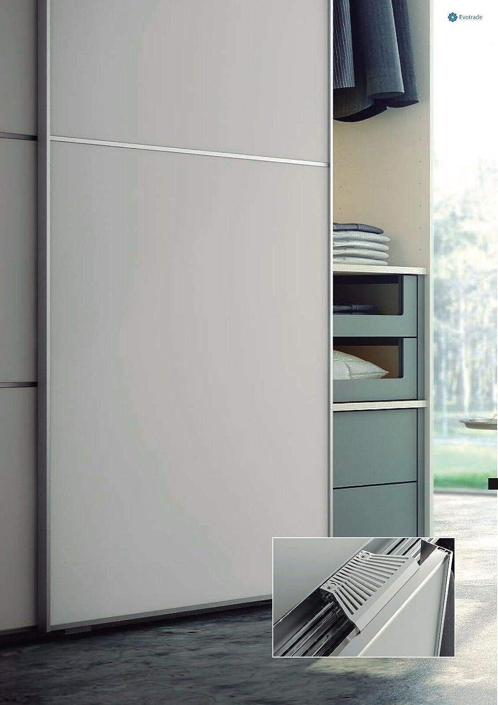 Kit de herramientas de puerta corredera para armario, armario de 2 a 3 puertas < 85 kg, freno suave apertura/cierre