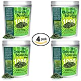 Chlorella Spirulina 50/50-Mega-pack 1000 Tablets! Best organic raw non-GMO Green Superfood (4-Pack)