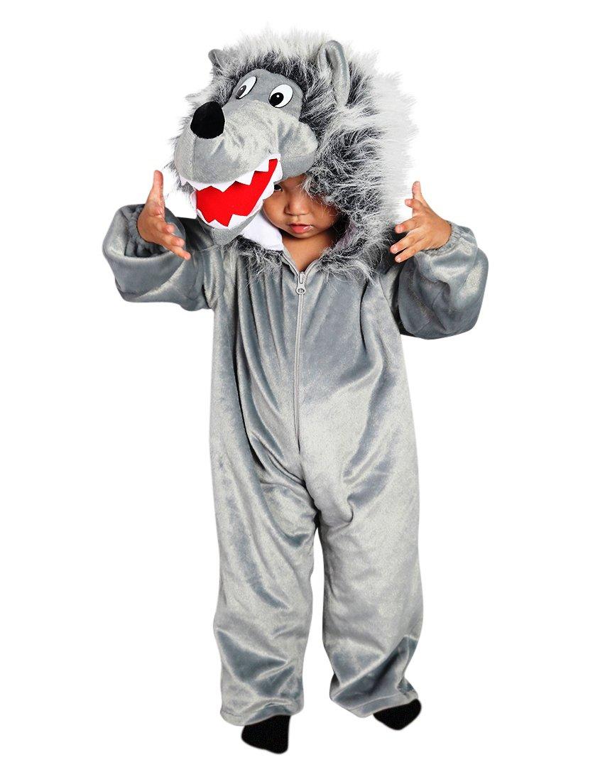 Wolf Kostüm F49 Gr 104 110 Für Kinder Wolf Kostüme Wölfe Für