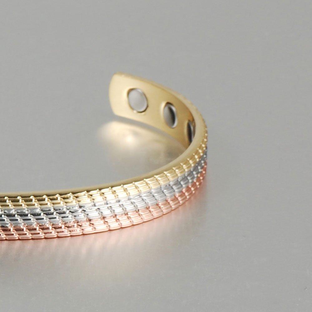 Wollet 16,51 cm 6 imanes Pulsera de cobre para mujer con terapia magn/ética para artritis