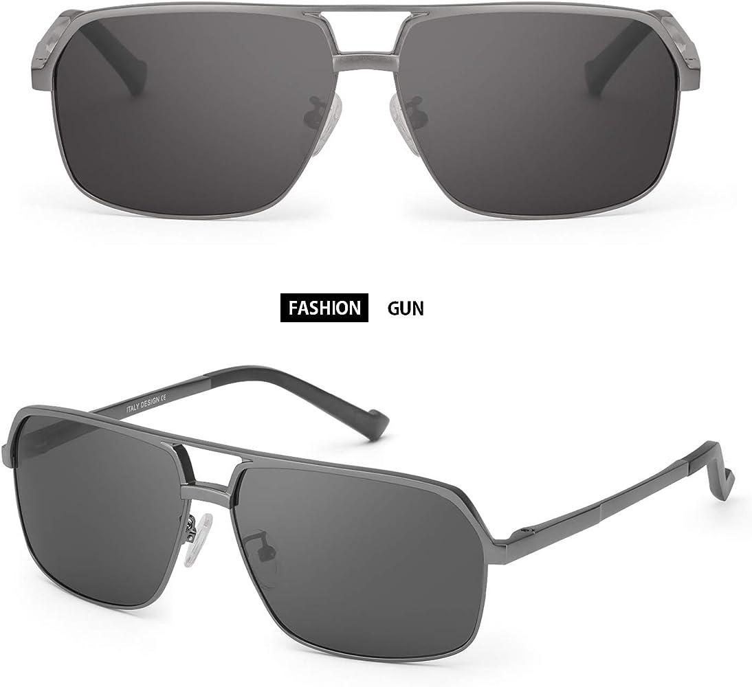 FIMILU Gafas de sol Polarizadas para Hombre Rectangulares ...