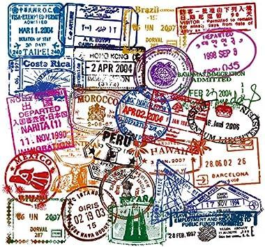 "Costa Rica Passport Travel Retro Car Bumper Sticker Decal 5/"" x 4/"""