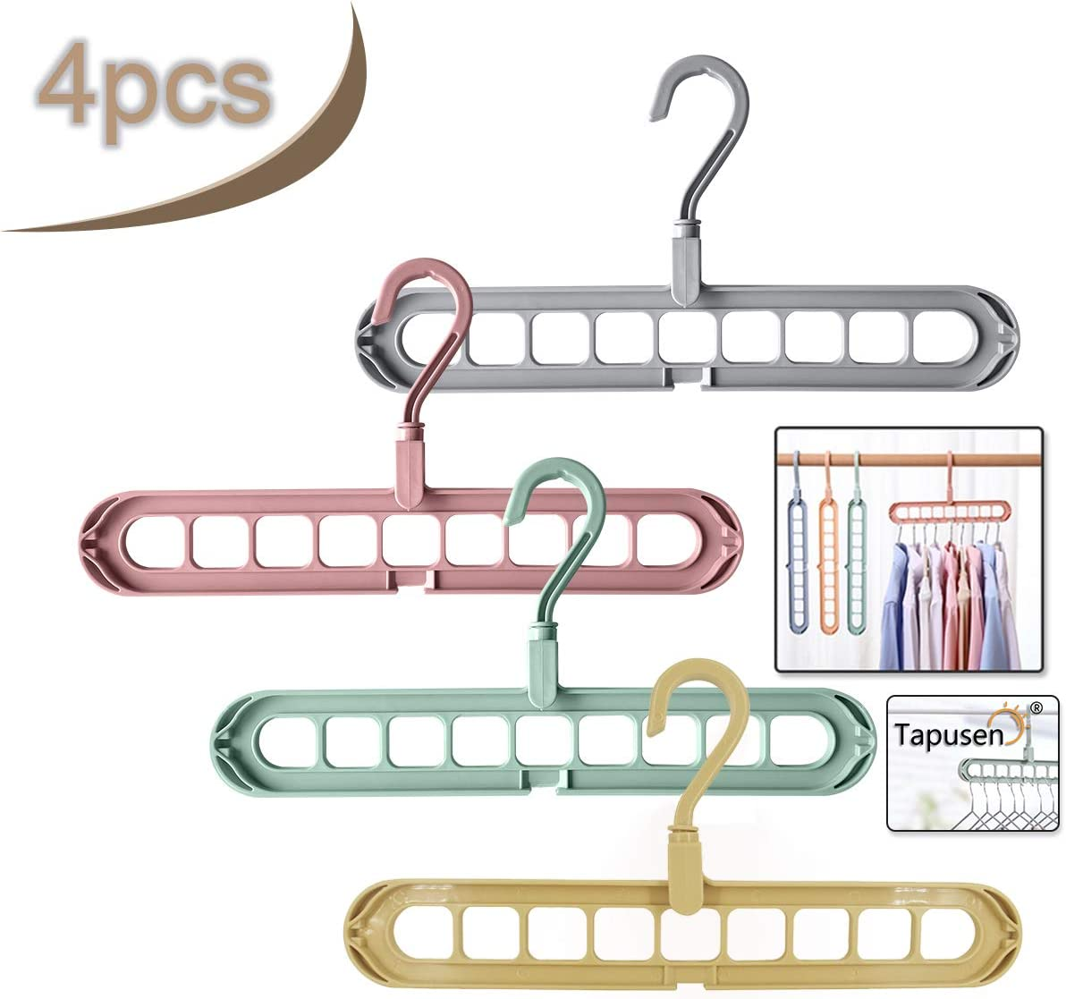 Tapusen Magic Hanger - Perchas Que ahorran Espacio Percha en ...