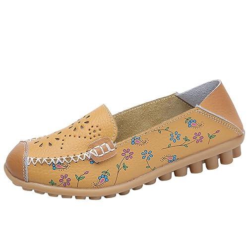 Zapatillas para Mujer Verano 2018 PAOLIAN Zapatos de Plano Cuña Casual Sandalias de Vestir Impresion Floral