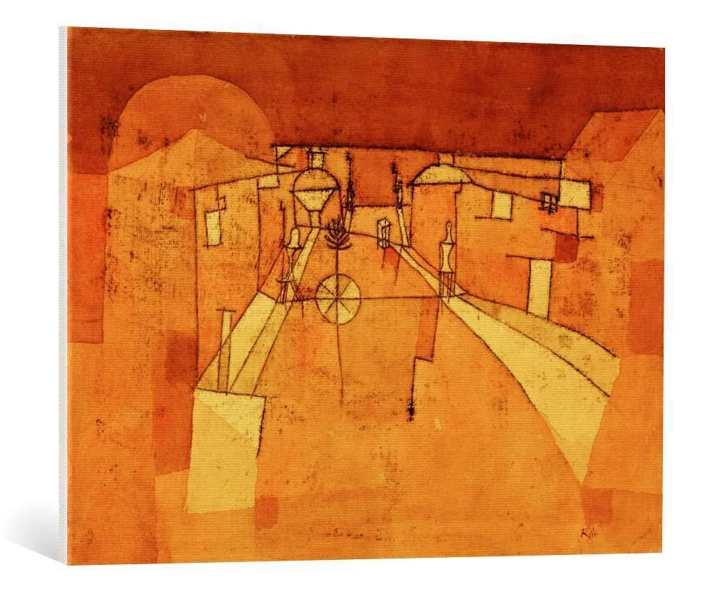 Kunst für alle Leinwandbild  Paul Klee Straße im Lager - hochwertiger Druck, Leinwand auf Keilrahmen, Bild fertig zum Aufhängen, 90x65 cm